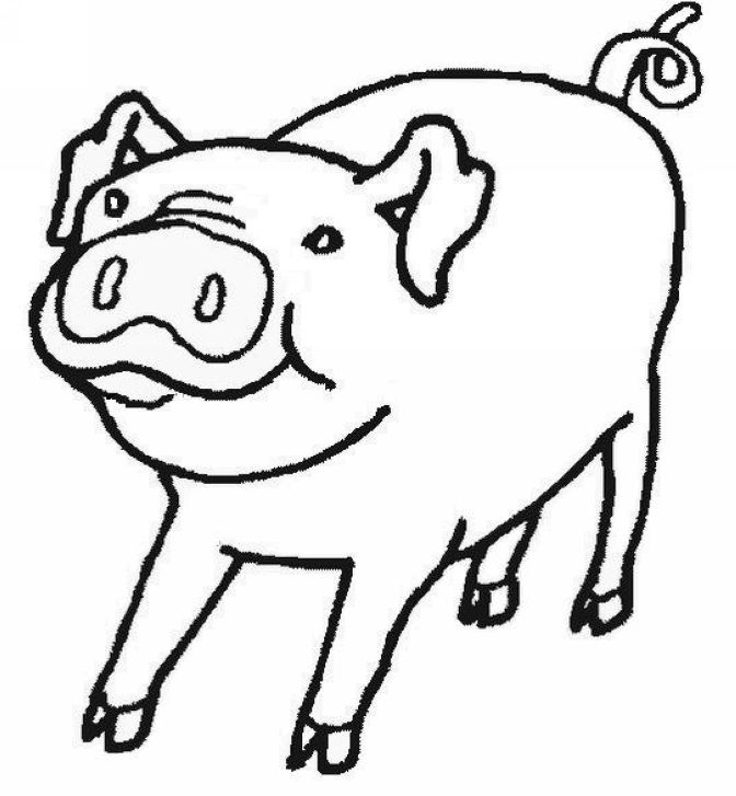 Free Coloring Pages Of Pink Pig