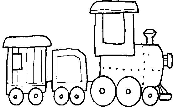 trains and more to color